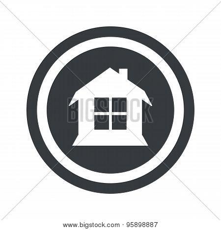 Round black house sign