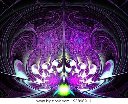 Illustration Background Fractal Colorful Spiral Oriental Tale