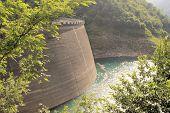 foto of dam  - Dam of Valvestino Valley - JPG
