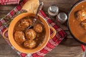 pic of meatball  - Tasty beef meatballs in the sauce - JPG