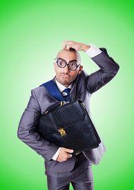 pic of nerds  - Funny nerd businessman against the gradient - JPG