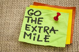 foto of mile  - go the extra mile   - JPG