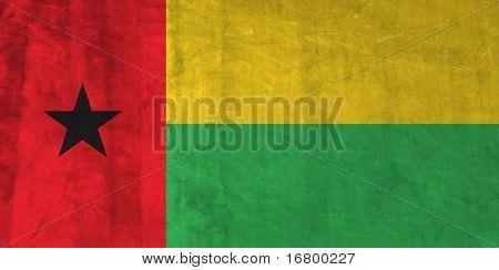 Grunge Flag of Guinea-Bissau