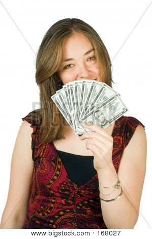 Casual Woman With Money 2