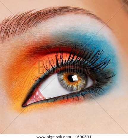 Blue-Orange Make-Up.