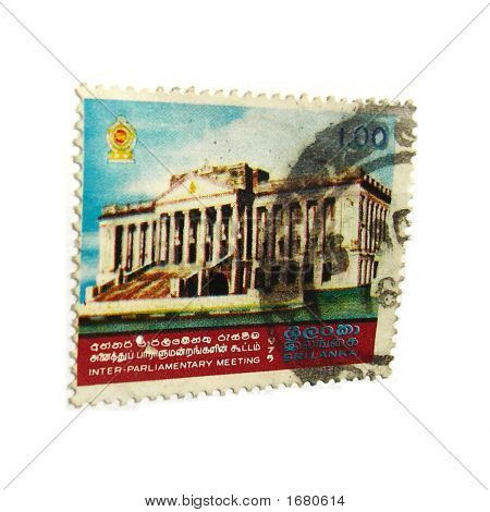 Old Postal Stamp Of Srilanka 1973