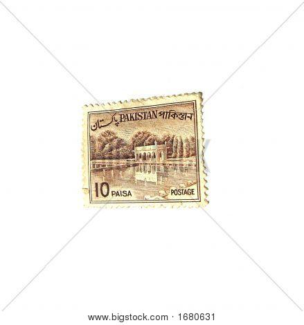 Old Postal Stamp Of Pakistan 10 Paisa - Sixties