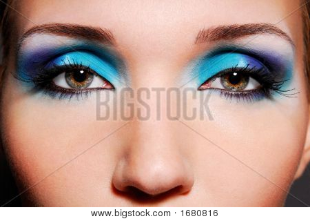 Beauty Women Eyes Close-Up