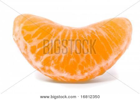 Juicy tangerine on a white background