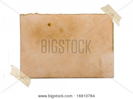 Vintage photo isolated on white background