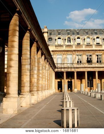Stoa And Columns In Royal Palace, Paris