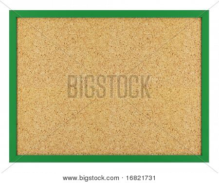 isolated cork board