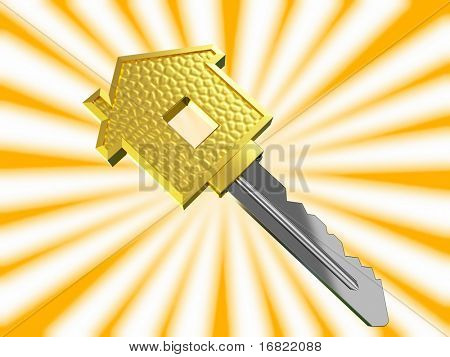 gold dream house key