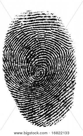 isolierte Finger print