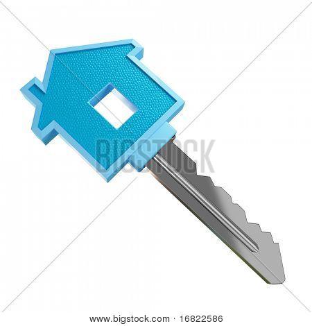 schönes 3d Bild von isolierten Schlüssel der Träume-Haus