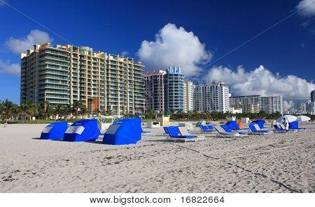 landscape,shot of  miami beach florida
