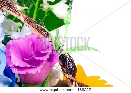 Isolated Floral Arrangement