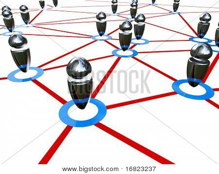 fine 3d image of connection working people