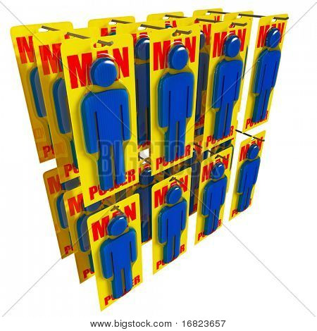 fine 3d image of man power worker metaphor