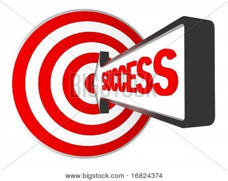 3d target and success arrow metaphoric business image