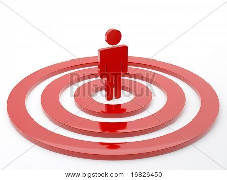 Red Human in the center of the target