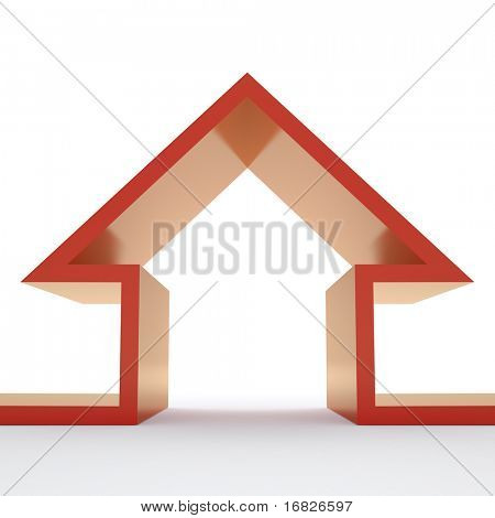 Growing house sales on white background