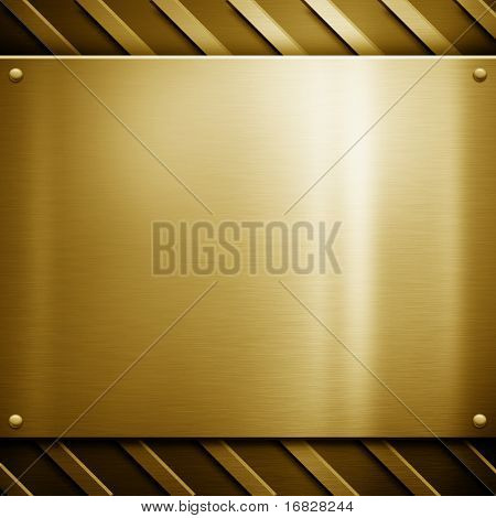golden metal template