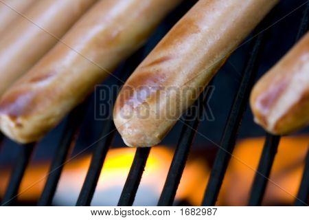 Grilling Hotdogs