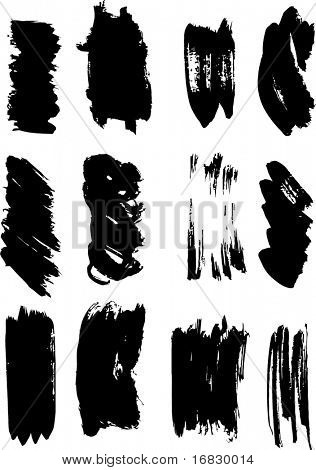 A collection of 12 brush strokes. You'll find more design elements in my portfolio!