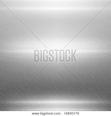 Placa de metal prata polida
