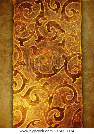 vintage shabby background with classy patterns (cracked paper background)