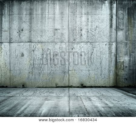 Grunge bare concrete room