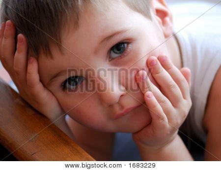 Sad Sight Of Nice Child