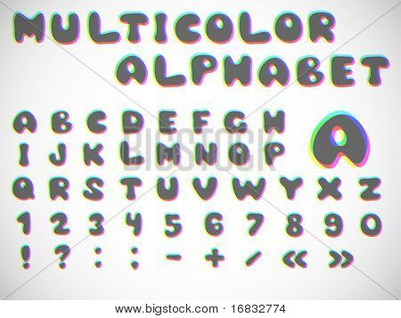 stylish multicolor alphabet (variant 2)