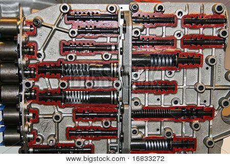 Transmission valve body intersection