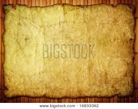 old paper map on wooden background
