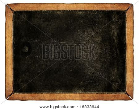 Vintage blackboard isolated on white