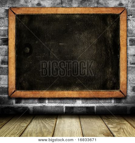 Vintage interior with school blackboard