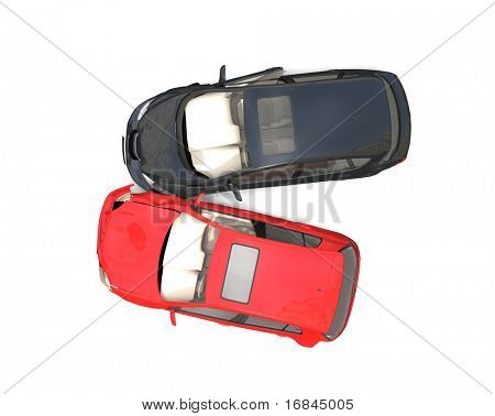 Isolated Crashed Cars