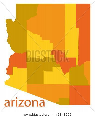 arizona state vector map