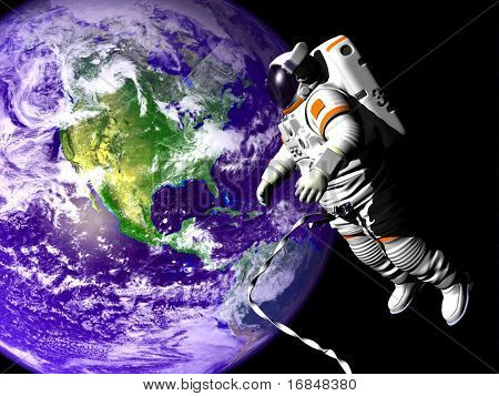 Flying astronaut