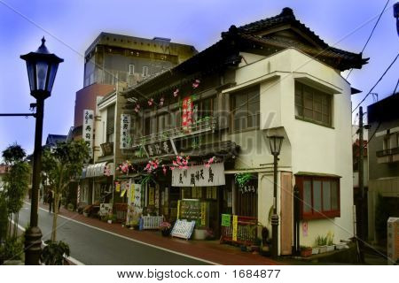 Historic House On A Street In Japan
