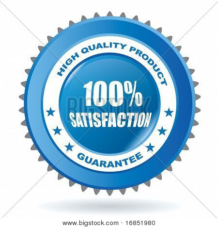 100% satisfaction sign