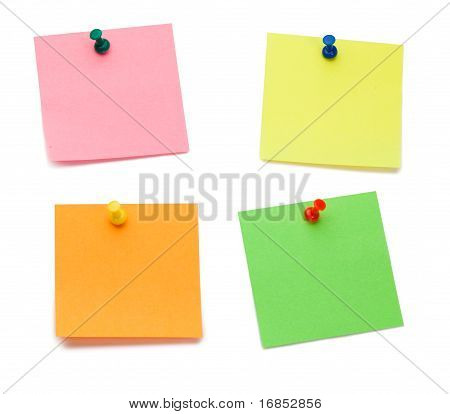 Color Post it Memo With Drawing Pins