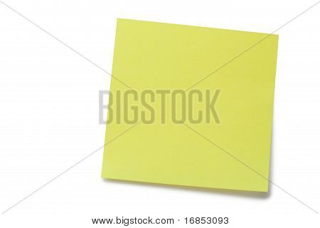Yellow Post it Memo