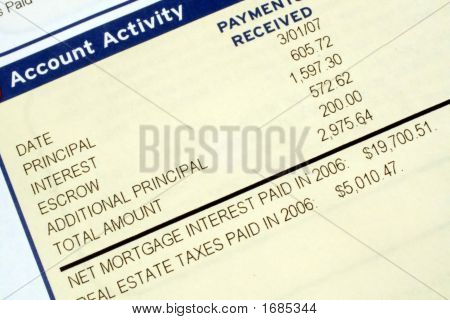 Mortgage Account Statement