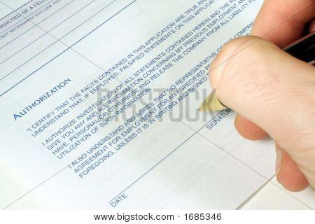 Authorized Signature
