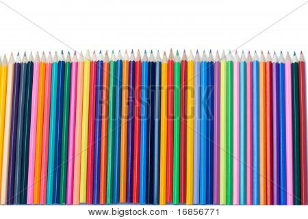 Alineación vertical de lápices de colores