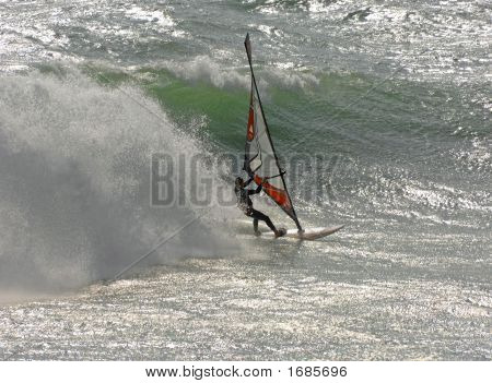 Windsurfer movimento rápido