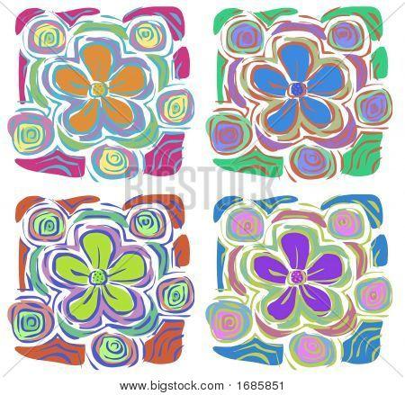 4 Flores tropicales